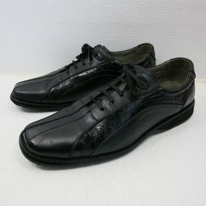 Stacy Adams Croco Accent Leather Casual Oxford 9.5